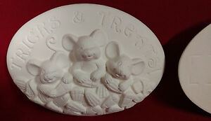 Tricks or Treats - Seasons Inserts - Ceramic Bisque Ready to Paint - Dona's