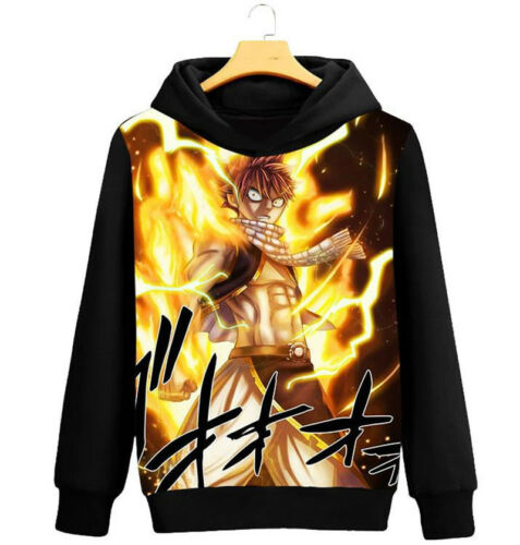 COS Costume Fairy Tail Natsu Dragneel Lucy Sweater Winter Hoodie Jumper Pullover