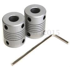 2X Flexible Shaft Coupling CNC Stepper Motor Coupler Connector & 1X Allen Key