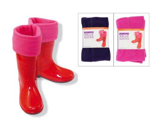 Da Donna Ragazze Stivale Welly Calzini Boot fodere Inverno Neve Donna Bambini Misura UK 9-6
