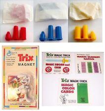 3dif Franken Berry Pop Rocket & Trix magic trix & Magnet Cereal premiums