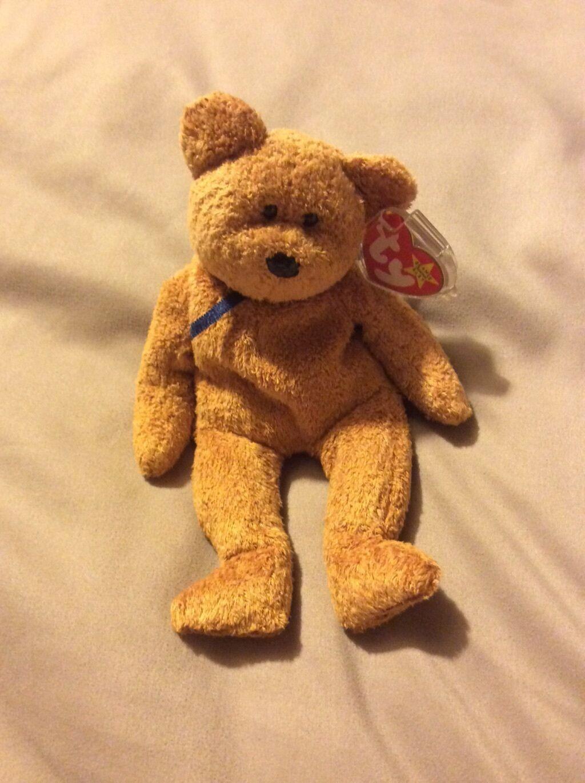 TY Beanie Baby Fuzz Bear. Rare. Error