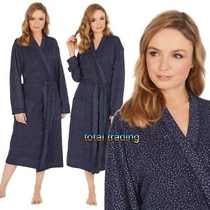 WOMENS-LADIES-DRESSING-GOWN-SUMMER-LIGHTWEIGHT-GOWNS-HOLIDAY-ROBE