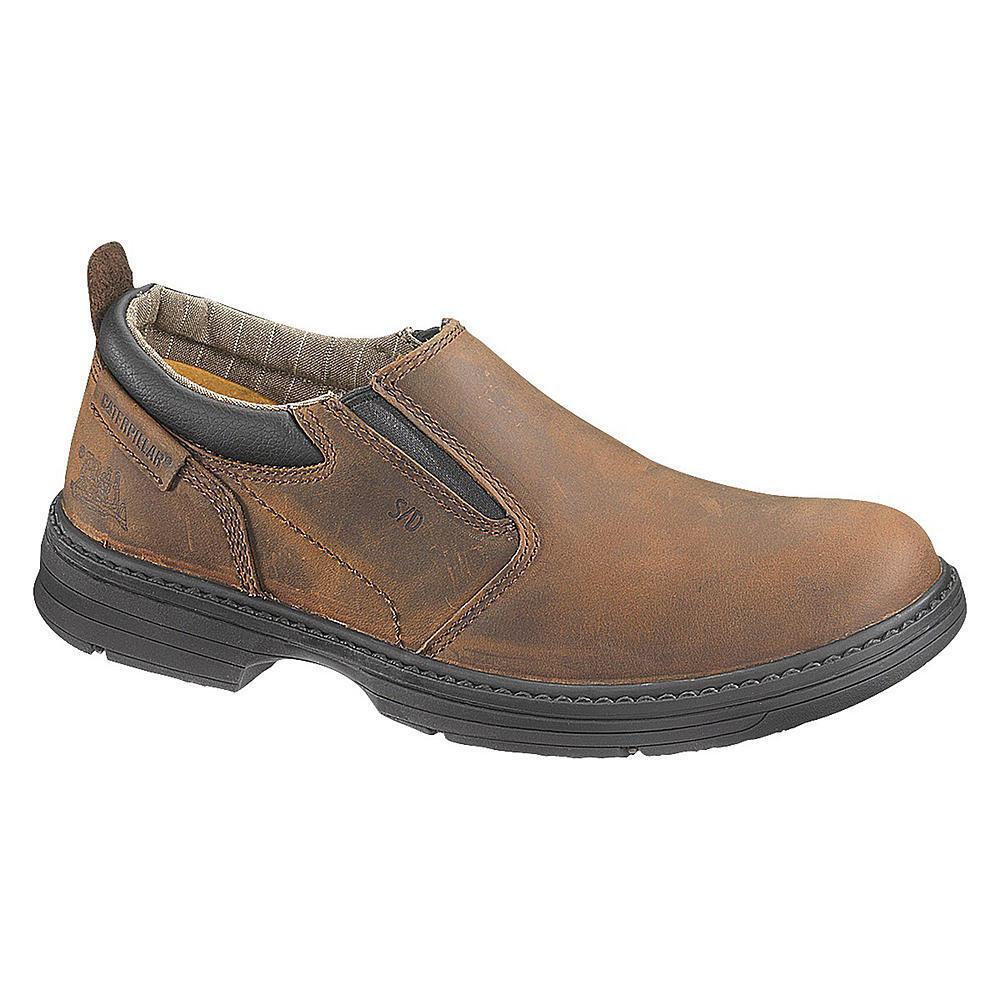 Cat Footwear Men Conclude Leather Slip-on Steel Toe Work shoes slip oil resistant