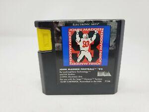 John Madden Football '93 (Sega Genesis, 1993) Tested Authentic