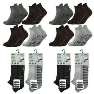 3-Pack-Homme-Gripper-SOLE-TRAINER-Chaussettes-Sports-Liners-Gym-antiderapante-Taille-6-11