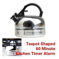 XD#3 60 Minute Kitchen Timer Alarm Mechanical Teapot Shaped Timer Clock Counting