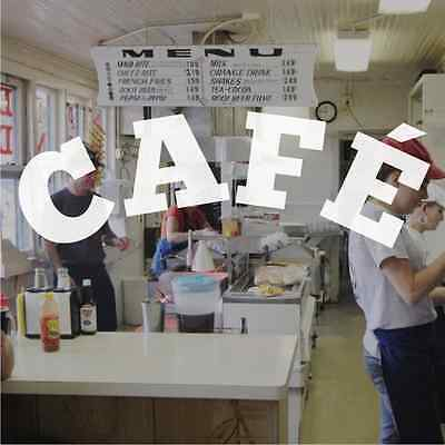 Cafe Cafeteria Coffee Shop Window Sign Stickers Graphics - Frosted Vinyl
