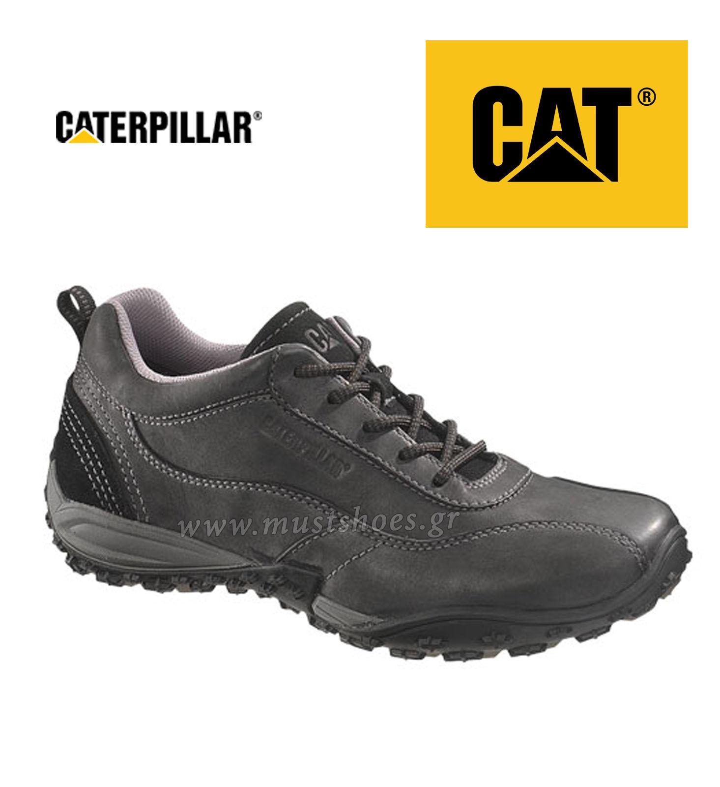 CATERPILLAR CAT MEN'S LEATHER UTILIZE BLACK 714151 EU 41