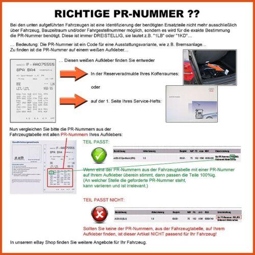 WARNKONTAKT VW TRANSPORTER BUS T4 1.9-2.8 SATZ BREMSBELÄGE VORNE
