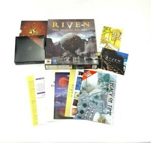 Riven The Sequel To Myst Big Box PC Game CD Rom Windows 95 Video Cyan Rare Used