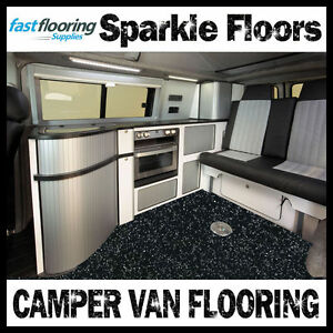 Altro Black Sparkly Camper Van Flooring Motorhome