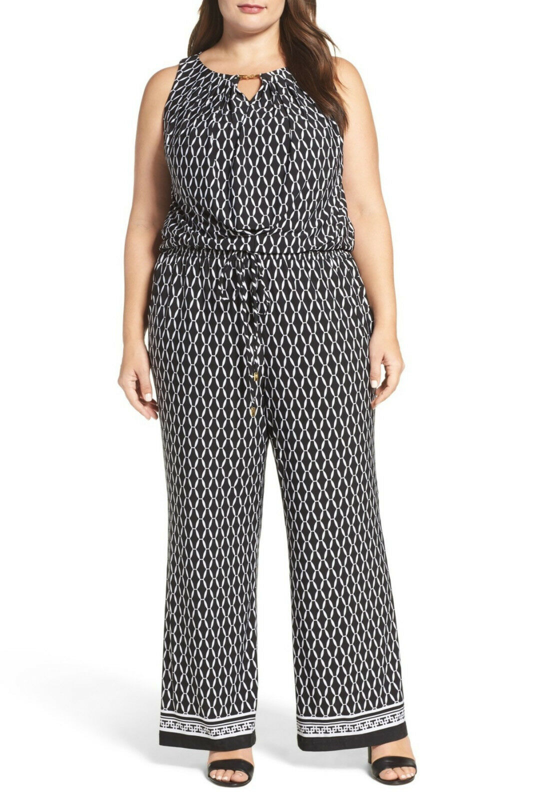 Tahari Print Wide Leg Jumpsuit (Plus Size) Sleeveless, Size 22W,  148, NWT