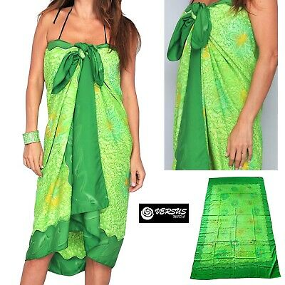 Pareo Donna Colori Brillanti Effetto Setoso Mare Estate Woman Sarong Vm18022