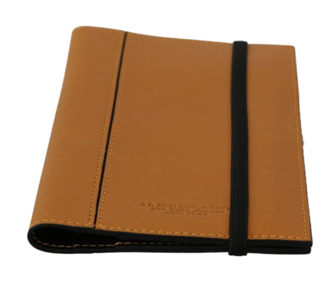 A.G SPALDING & BROS Wallet Leather Yellow Bifold Pass Travel Holder Men
