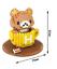 Rilakkuma Relaxed Bear Cute Mini Assembly Blocks Children Spielzeug Gift Model K