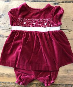 Newborn Christmas Dresses 0 3 Months.Details About Christmas Janie And Jack Baby Girl Newborn 0 3 Months Red Velvet Holiday Dress