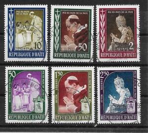 GéNéReuse O402 Haïti/pape Pie Xii Minr 555/60 O