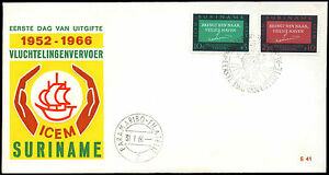 Suriname-1966-ICEM-European-Migration-FDC-First-Day-Cover-C35503