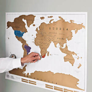 Large scratch off world map poster personalized travel vacation log image is loading large scratch off world map poster personalized travel gumiabroncs Choice Image