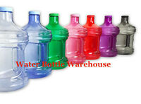 Bpa Free 1 Gallon Plastic Water Bottle Container Drinking Canteen Jug Color H2o