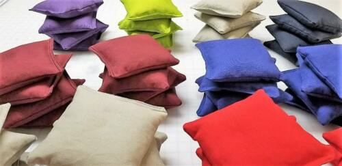Cornhole Bags ~ Bean Bag Toss~ Corn Or Resin Filled Bags White Set of 4