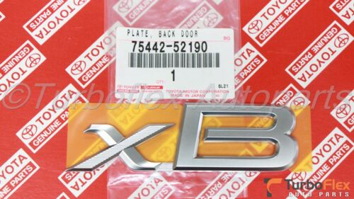 Scion xB 2004-2016 xB Back door Emblem Genuine OEM    75442-52190