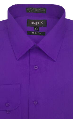 22Colors NWT Mens Solid Slim Fit Dress Shirt