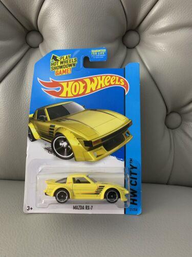 HW CITY NEW 2014 Hot Wheels Yellow MAZDA RX-7 Diecast Car