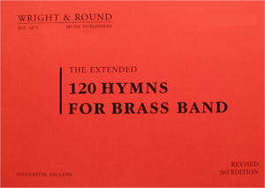 Large Print Edition A4 120 Hymns for Brass Band Bass Trombone Part Book