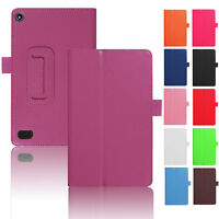 Magnetic Pu Leather Fashion Case Cover For Amazon Kindle Fire Hd 8 2017 7th Gen