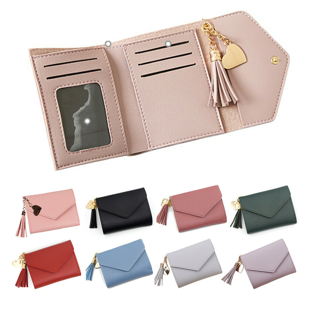 Lady Mini Purse Bifold PU Leather Short Rfid Blocking Handbag Women Small Wallet