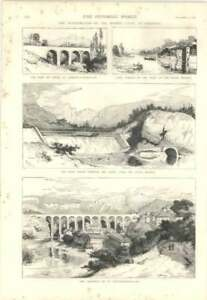 1879 Inauguration Of Bourne Canal At Valencia Aqueduct St Nazaire - Bishop Auckland, United Kingdom, United Kingdom - 1879 Inauguration Of Bourne Canal At Valencia Aqueduct St Nazaire - Bishop Auckland, United Kingdom, United Kingdom