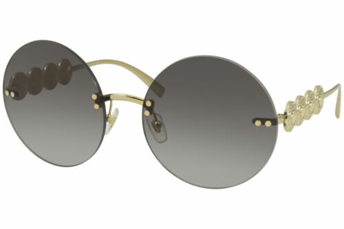 Versace 2214 1002//11 Sunglasses Women/'s Gold//Grey Gradient Lenses Round 59mm