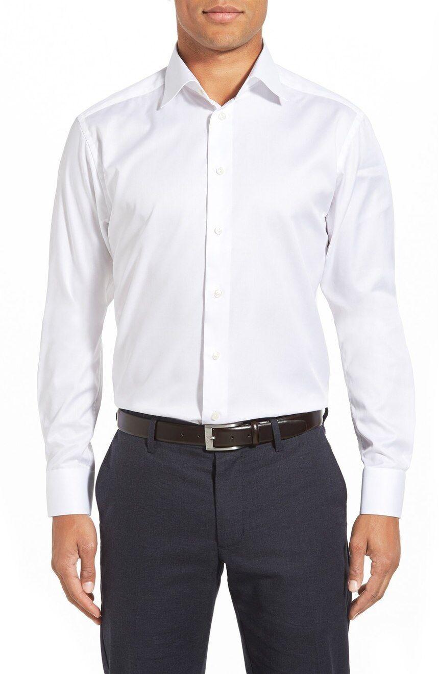 NEW ETON White Tuxedo Dress Shirt Contemporary 42 161 2 French Cuffs