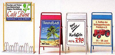 Fahrradständer Werbetafeln Maßstab 1:22,5 LGB-Größe Preiser 45221 Zubehör OVP