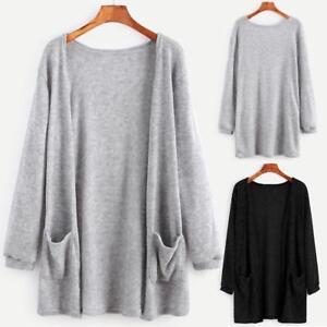 Women-Long-Sleeve-Cardigan-Outwear-Coat-Oversized-Loose-Knitted-Sweater-Jumper
