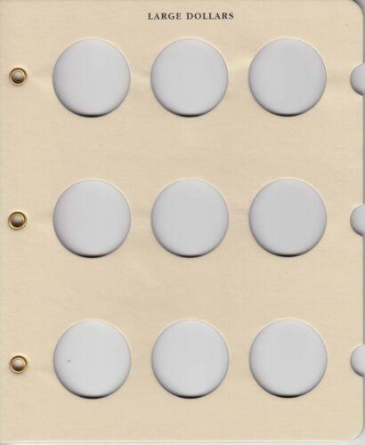 Littleton Álbum página em branco Grande Dólar compatível com 9 Moedas Morgan PEACE Eisenhower Novo
