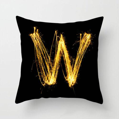 45x45cm English Alphabet Letter Pillow Cover Cushion Pillowcase Home Decor Cool