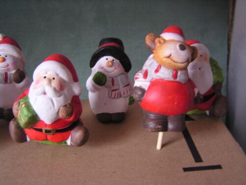 8-er Set Deko-Weihnachtsfiguren Sticker Set Nikolaus Terracotta Figuren