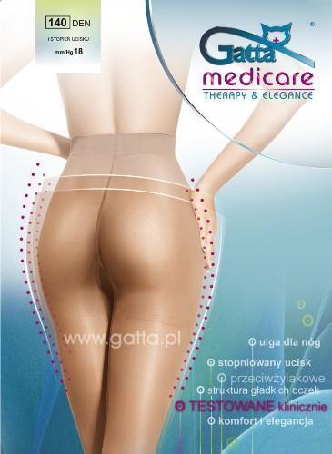 GATTA Medicare Tights 140 Denier Black Beige 18 mm//Hg Prevents Varicose Veins