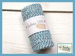 (0.09 €/m) Baker 's Twine Bleu/blanc 90m Rôle Bakers Cordon Bastelschnur-afficher Le Titre D'origine