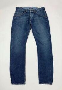 Reds jeans uomo usato gamba dritta W34 tg 48 denim straight fit boyfriend T6165