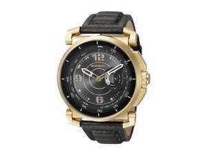 517e5acd1ec Diesel Men s Black Leather Strap Hybrid Smart Watch DZT1004 ...