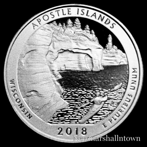 2018 S Apostle Island Mint Reverse Silver Clad Proof National Pk from Proof Set