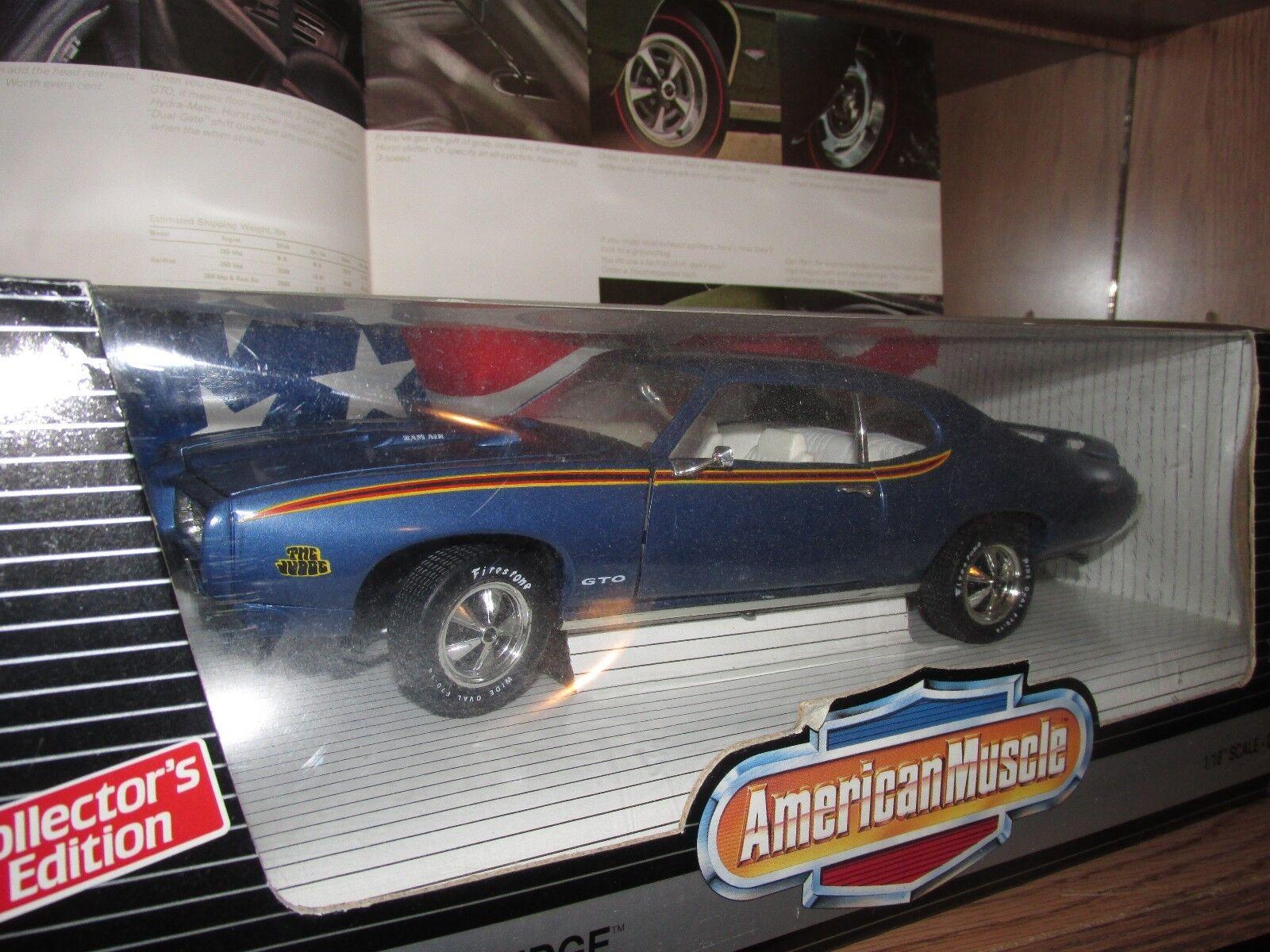 1969 Pontiac Gto blu Edición 1996 edición limitada de 1 18 69 juez Cabra