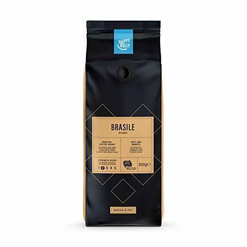 Amazon Brand - Happy Belly Coffee Beans Brasile, 2 x 500g