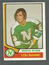 1974 O-PEE-CHEE Lou Nanne #325 Hockey Card