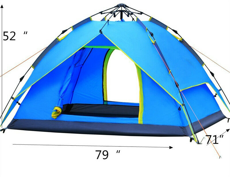 Speed Open Outdoor Automatic Tent Windproof  hold 2-3 people