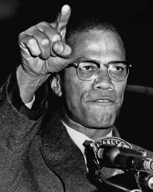 1963 Harlem Civil Rights Rally MALCOLM X Glossy 8x10 Photo Print Minister Poster